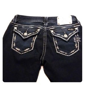 Miss Me Mid Rise Easy Straight Jeans Size 29x30
